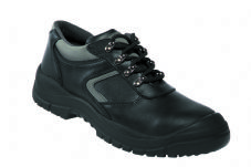 Safetoes S5005 Steel Midsole Black Leather Trainer